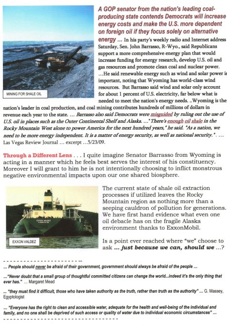 shale oil - exxon valdez