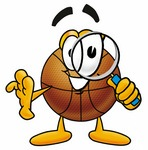 Clip art Graphic of a Basketball Cartoon Character